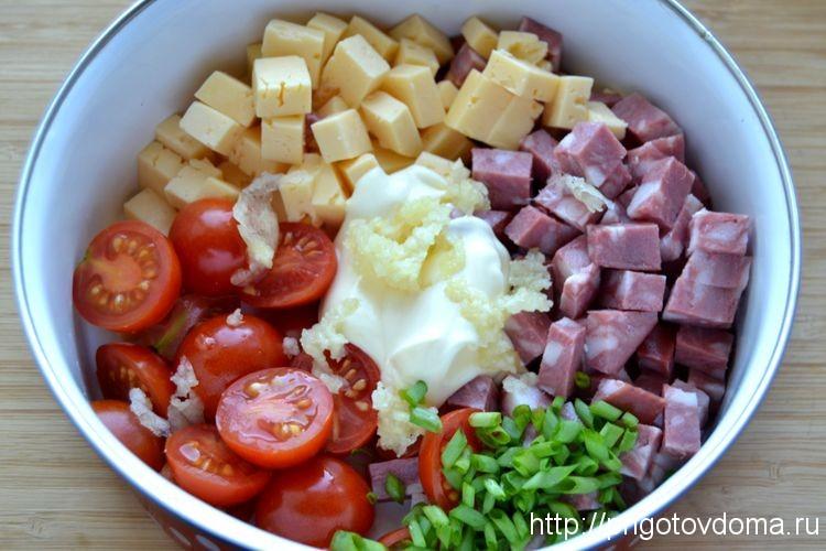 Немецкий салат с копченой колбасой рецепт пошагово
