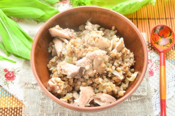 гречка с грибами и с курицей рецепт