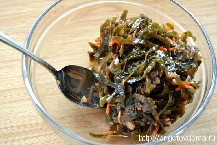 Как сделать салаты из морской капусты 716